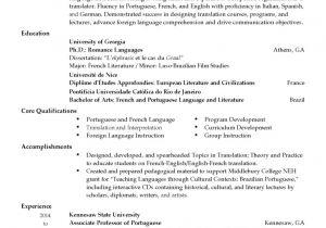 Resume Basic Language Skills Professional Language Professor Templates to Showcase Your