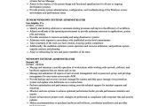 Resume Basic Unix Windows Systems Administrator Resume Samples Velvet Jobs