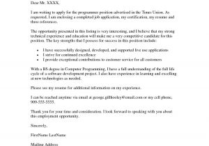 Resume Cover Letter Examples Job Application Job Application Cover Letter Example Resumes Job