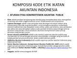 Resume Etika Profesional Audit Etika Profesional Audit