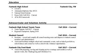 Resume Examples for Students First Job First Part Time Job Resume Sample Fastweb
