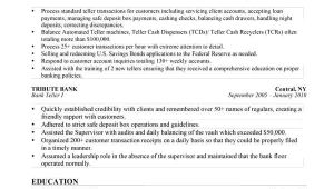 Resume for Bank Job Interview This Bank Teller Resume Sample Was Professionally Written