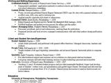 Resume for Degree Students Career Services Sample Resumes for Graduate Students and
