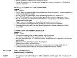 Resume for Engineering Job Construction Engineering Resume Samples Velvet Jobs