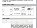 Resume for Freshers In Word format It Fresher Resume format In Word