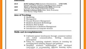 Resume for Job Interview 6 Cv Pattern for Job theorynpractice
