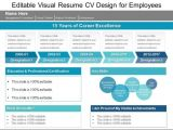 Resume for Job Interview Ppt Editable Visual Resume Cv Design for Employees