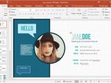 Resume for Job Interview Ppt Your Resume Animated Powerpoint Template