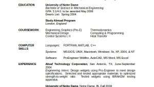 Resume for Mechanical Engineer Fresher In Word format 10 Mechanical Engineering Resume Templates Pdf Doc