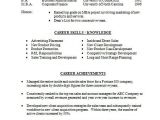 Resume for Sales and Marketing In Word format 22 Basic Resume Templates