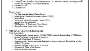 Resume for Semi Qualified Ca Student Chartered Accountant Resume format Freshers Page 2 Cv