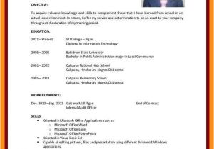 Resume for Students with No Experience 12 13 Cv Samples for Students with No Experience