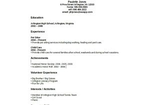 Resume for Students with No Experience Sample High School Student Resume 8 Examples In Word Pdf