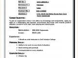 Resume for Teacher Job Application Pdf Write Resume for Job Application Resume format for Job