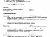 Resume for tourism Student Resume Samples Division Of Student Affairs