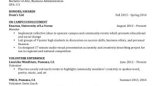 Resume for Undergraduate College Student College Student Resume 7 Free Word Pdf Documents