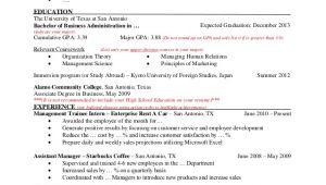 Resume for Undergraduate Student Resume Template for Undergraduate Students