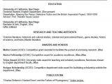 Resume for Undergraduate Student Uc San Diego Cv Example for Undergraduate Students