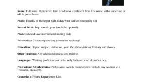 Resume format for Abroad Job International Resume format for Overseas Job This Sum