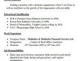Resume format for Bank Job Fresher 45 Fresher Resume Templates Pdf Doc Free Premium