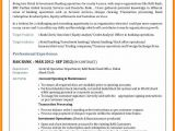 Resume format for Bank Job Fresher 5 Examples Of Resume for A Bank Job Cains Cause