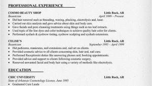 Resume format for Beautician Job Beautician Resume Example Http Resumecompanion Com