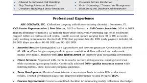 Resume format for Call Center Job Call Center Resume Sample Monster Com