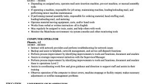 Resume format for Computer Operator Job Computer Operator Resume Samples Velvet Jobs
