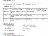 Resume format for Cse Freshers Resume Blog Co Resume Sample Computer Science