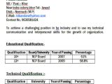 Resume format for Diploma Freshers 43 Professional Fresher Resumes