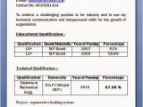 Resume format for Diploma Freshers Mechanical Diploma Resume format for Freshers