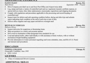 Resume format for Driver Job 12 13 Resume Examples for Truck Drivers