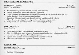 Resume format for Driver Job Car Driver Resume Sample Resumecompanion Com Larry