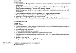 Resume format for Driver Job Company Driver Resume Samples Velvet Jobs