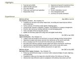 Resume format for Driver Job Delivery Driver Resume Sample Driver Resumes Livecareer
