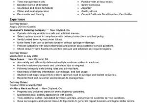 Resume format for Driver Job Delivery Driver Resume Sample Resume Examples Free