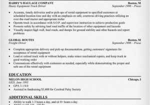 Resume format for Driver Job Heavy Truck Driver Resume Resumecompanion Com Resume