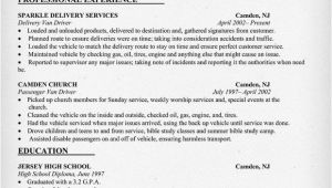 Resume format for Driver Job Sample Cv for Driver Custom Writing Services