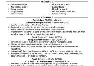 Resume format for Driver Job Truck Driver Resume Examples Created by Pros