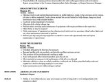 Resume format for Driver Job Truck Driver Resume Ipasphoto