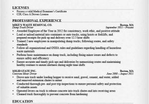 Resume format for Driver Job Truck Driver Resume Sample and Tips Resume Genius