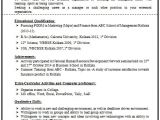 Resume format for Fresher Quora 100 Resume format for Experienced Sample Template Of A