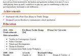 Resume format for Fresher Textile Designer Textile Designer Cv Template 1