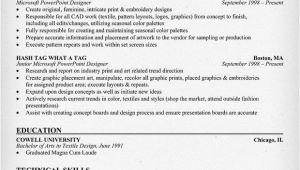 Resume format for Fresher Textile Designer Textile Designer Resume Example Clothes Fashion