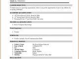 Resume format for Freshers Bcom Image Result for Resume format for Bcom Freshers Sample