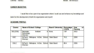 Resume format for Freshers Engineers 12 Fresher Engineer Resume Templates Pdf Doc Free
