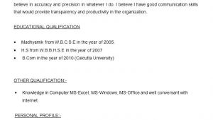 Resume format for Government Job In India Resume for Hindi Teacher Wikirian Com