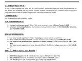 Resume format for Hindi Teacher Job In India Resume for Teachers Job Application In India Resume format