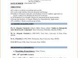 Resume format for Hindi Teacher Job In India Sample Resume for Teachers In India Pdf at Resume Sample