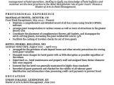 Resume format for Hotel Job Hotel Clerk Resume Sample Resume Companion